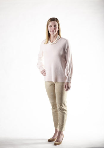 Cortland Park | Pearl Button Sleeve Sweater