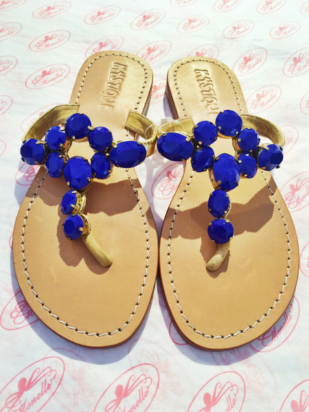 Mystique Sandals | Royal Blue with Extra Stones