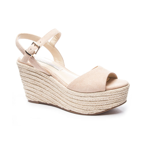 Brandie Open Toe Suede Wedge