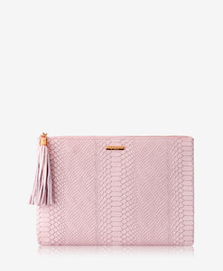 Gigi New York | Embossed Python Uber Clutch