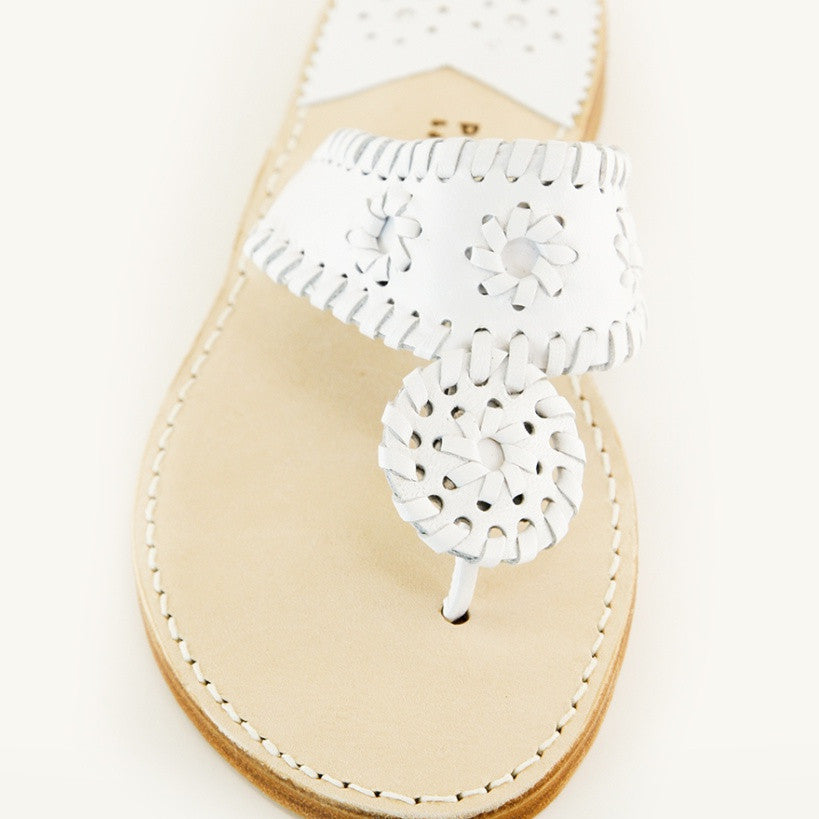 Palm Beach Sandals | White Patent