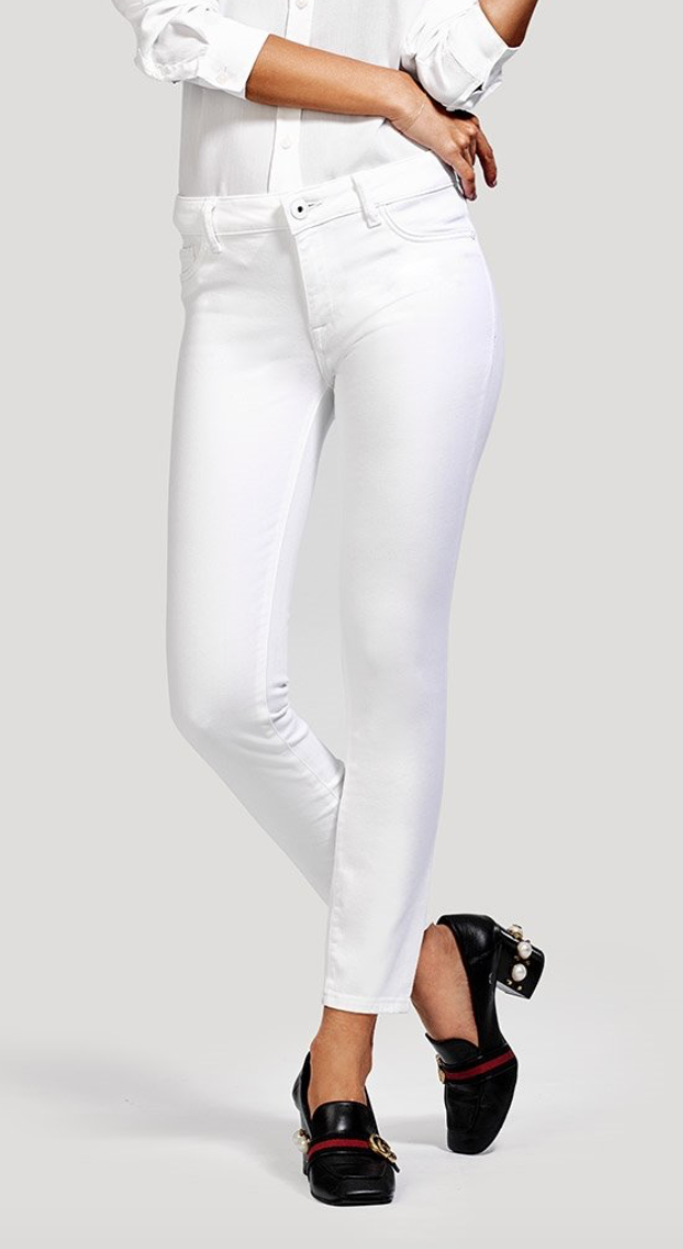 DL 1961 | Margaux Ankle Skinny (Porcelain)