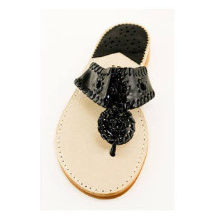 Palm Beach Sandals | Black Patent