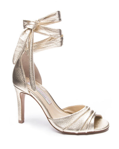 Chinese Laundry | Lilac Metallic Heel (gold)