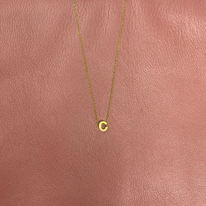 Small Initial Gold Necklace