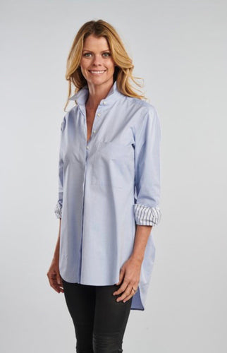 Claridge & King | Cross Back Button-Down w/ pinpoint