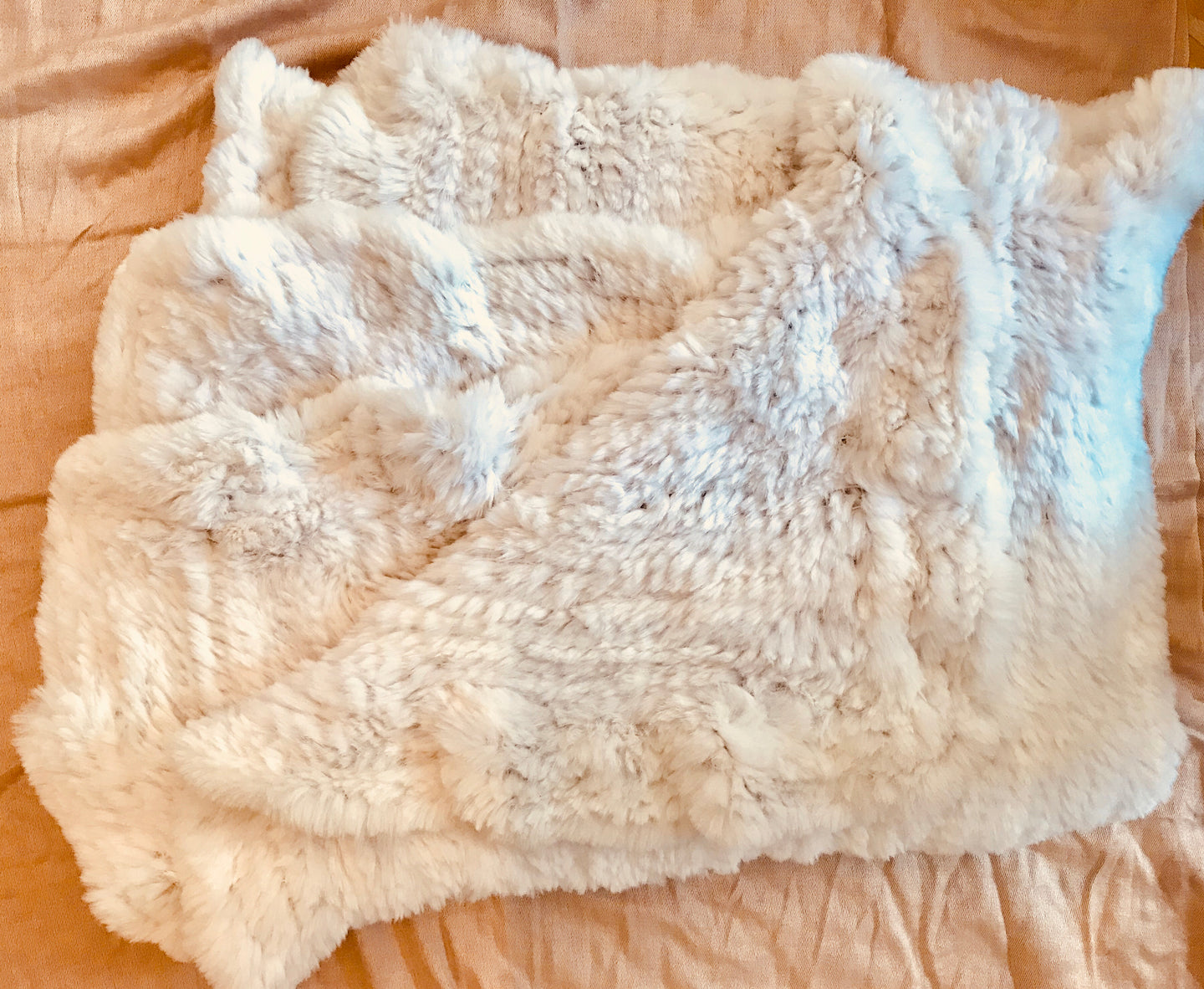 Adrienne Landau | Rabbit Fur Throw