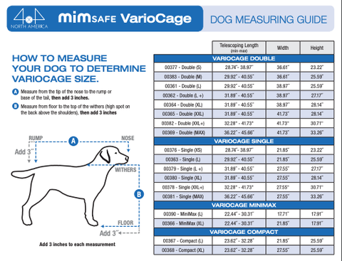Variocage Dog Measuring Guide