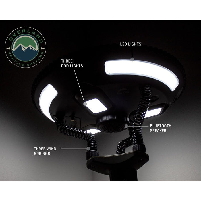 Solar Camping Light Pods & Speaker Universal Wild Land Overland Vehicle Systems - OffBeat Auto