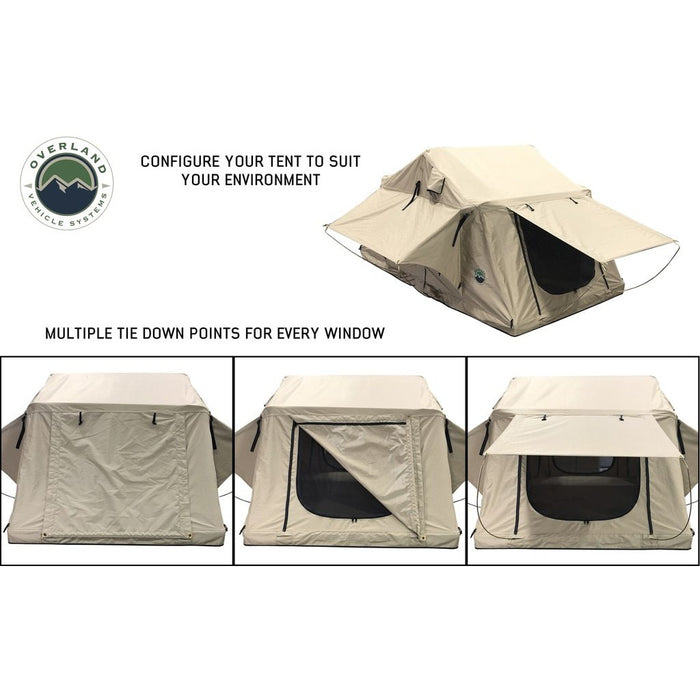 Roof Top Tent 3 Person with Green Rain Fly TMBK Overland Vehicle Systems - OffBeat Auto