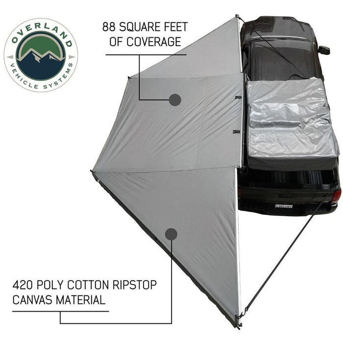 Awning Tent 270 Degree Passenger Side Dark Gray/Black Cover Nomadic Overland Vehicle Systems - OffBeat Auto