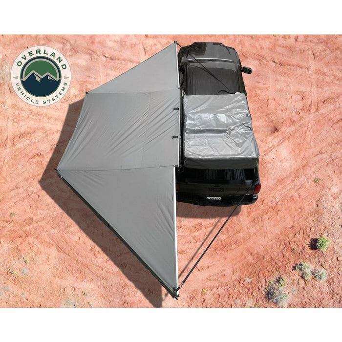 Awning 180 Degree Dark Gray Cover With Black Cover Universal Nomadic Overland Vehicle Systems - OffBeat Auto