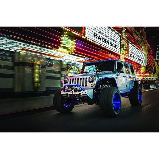 54 Inch LED Light Bar Single Row Curved Black Spot RDS SR-Series RIGID Industries - OffBeat Auto
