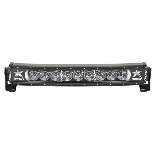 20 Inch LED Light Bar Single Row Curved White Backlight Radiance Plus RIGID Industries - OffBeat Auto