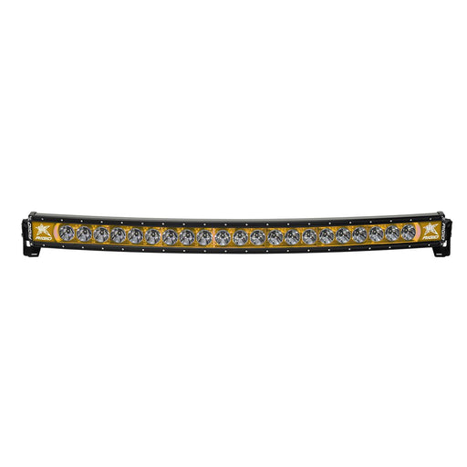 40 Inch LED Light Bar Single Row Curved Amber Backlight Radiance Plus RIGID - OffBeat Auto