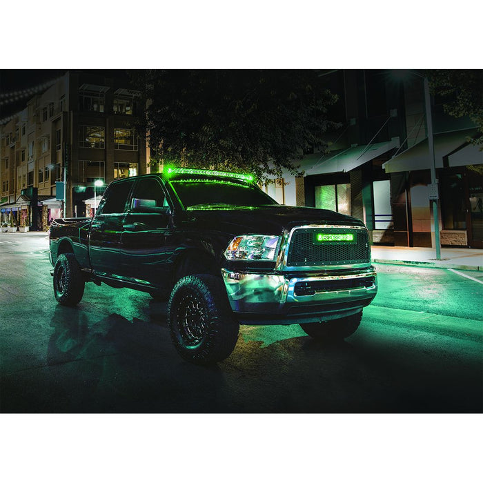 40 Inch LED Light Bar Single Row Curved Amber Backlight Radiance Plus RIGID Industries - OffBeat Auto