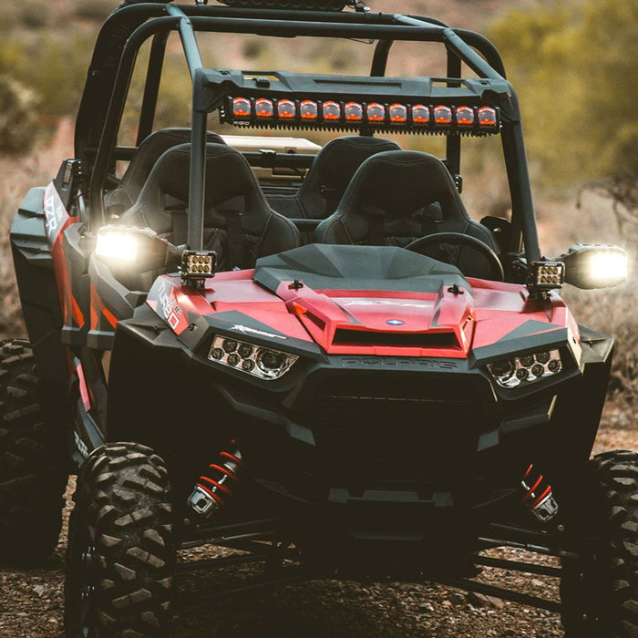 14-17 Polaris RZR Turbo A-Pillar Mount Fits Reflect and Two D-Series, D-SS Series Or Ignite RIGID Industries - OffBeat Auto