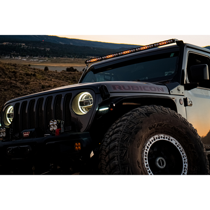 Jeep JL/JT Roof Bar LED Light Kit 50 Inch OnX6+ w/Upfitter Baja Designs - OffBeat Auto