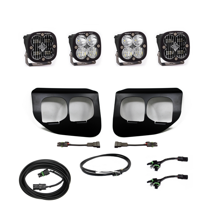 Ford Super Duty (20-On) Fog Lights Dual FPK SAE/Sport DC Baja Designs w/Upfitter Baja Designs - OffBeat Auto