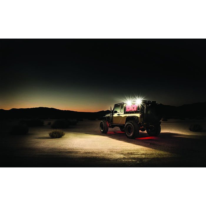 4x4 115 Degree DC Power Scene Light White Housing Excludes 1 x 2 RIGID Industries - OffBeat Auto