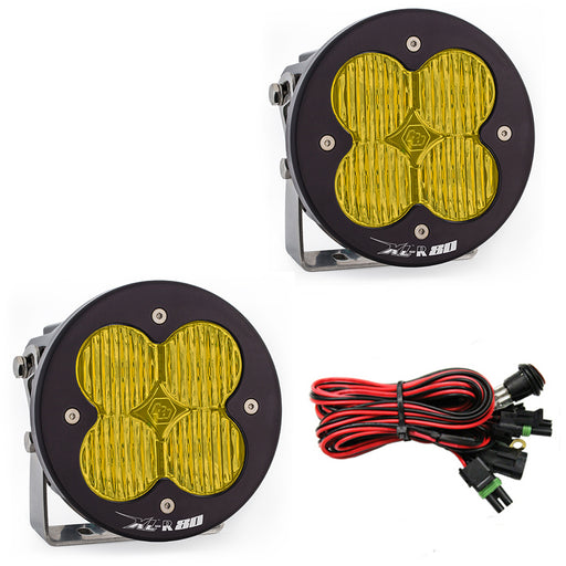 LED Light Pods Amber Lens Pair XL R 80 Series Baja Designs - OffBeat Auto
