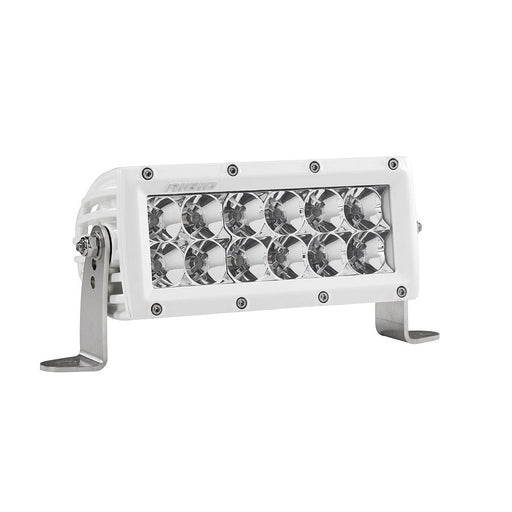 6 Inch Flood Light White Housing E-Series Pro Light Bar Rigid Industries - OffBeat Auto