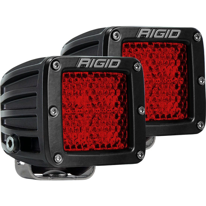 Diffused Rear Facing High/Low Surface Mount Red Pair D-Series Pro RIGID Industries - OffBeat Auto