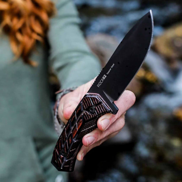 Rock 62 X-Grip Knife By Woox - OffBeat Auto