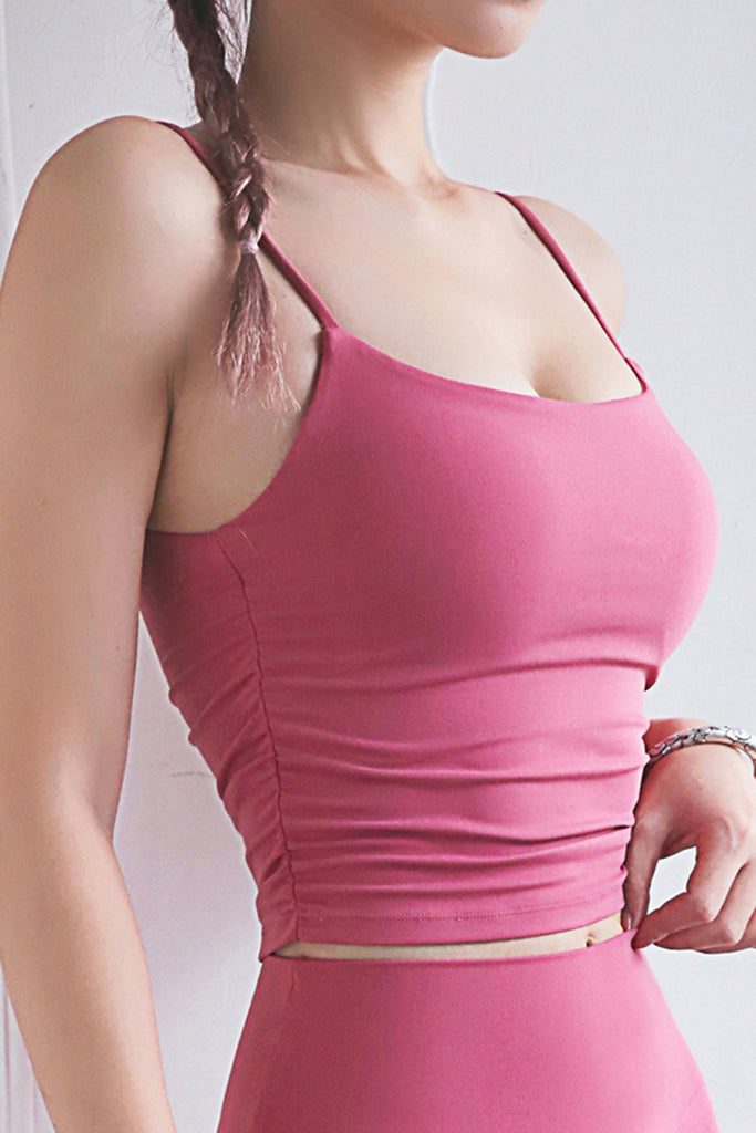 Solid Color Halter Sports Casual Tank Top