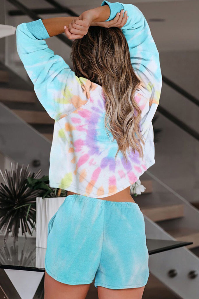 Tie Dye Long Sleeve Two Pieces Sets