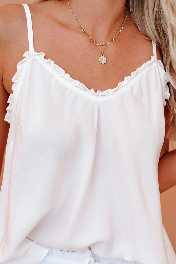 Halter Solid Color Tassel Two Pieces Sets