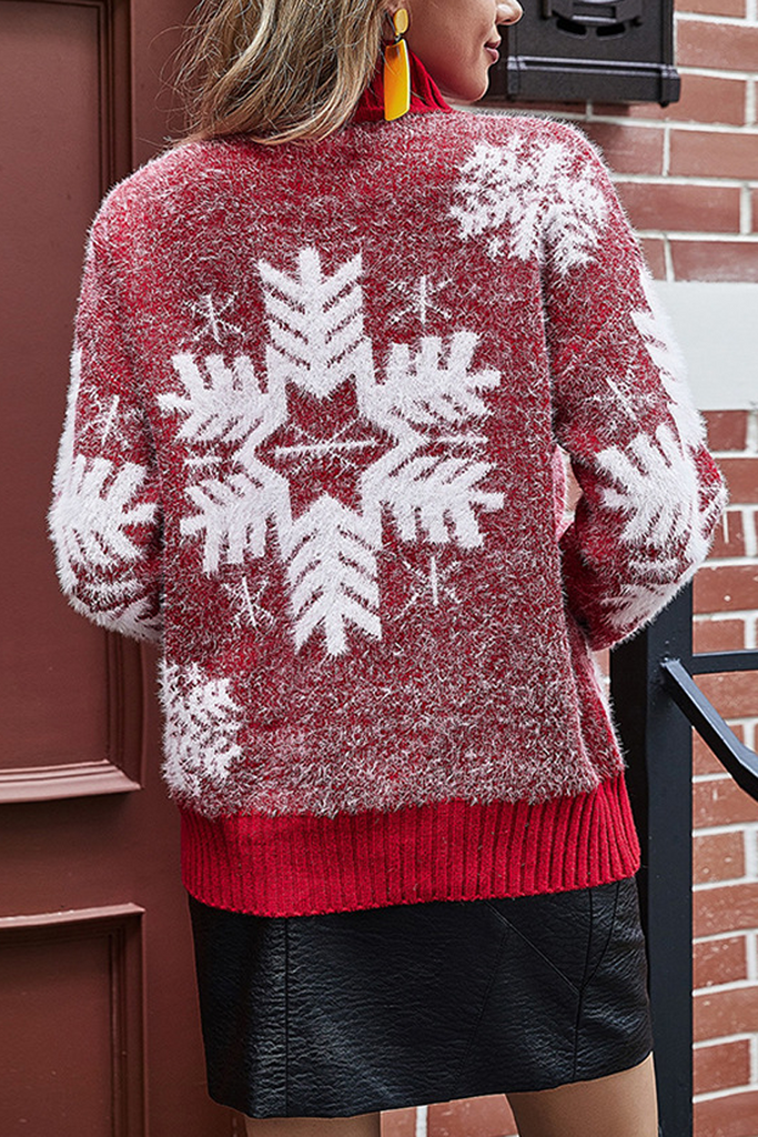 Sweet Snowflake High Neck Sweater