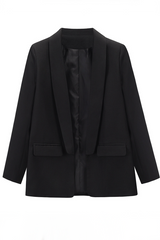 Solid Peter Pan Collar Blazer
