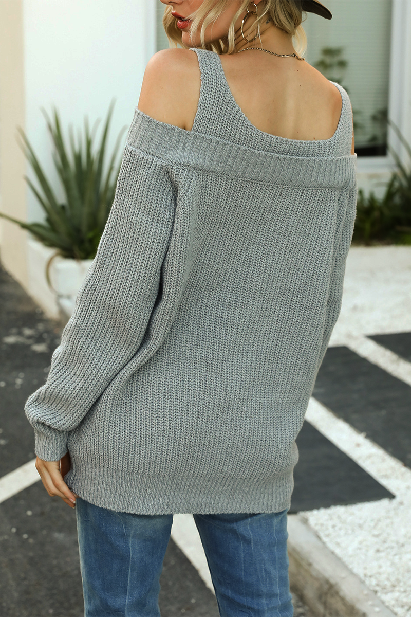 Suspenders Cold Shoulder Knitwear