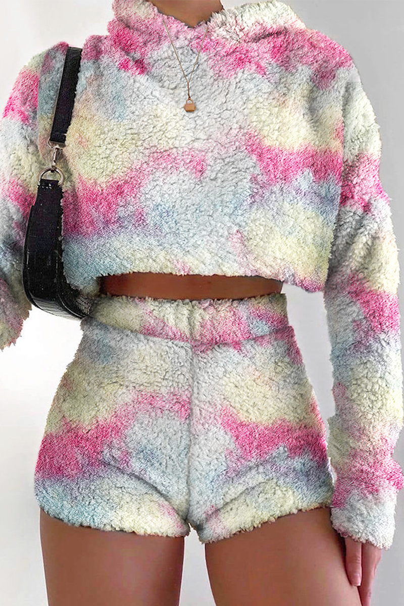 Plush Hoodie Two Piece Suits