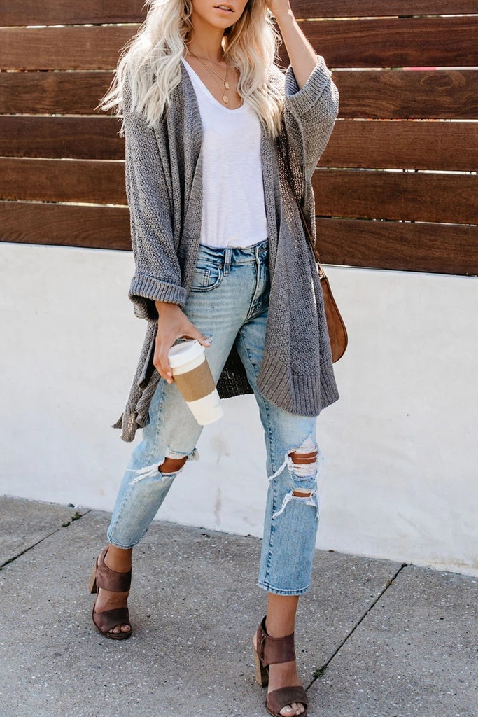 Long Sleeve Knit Cardigan
