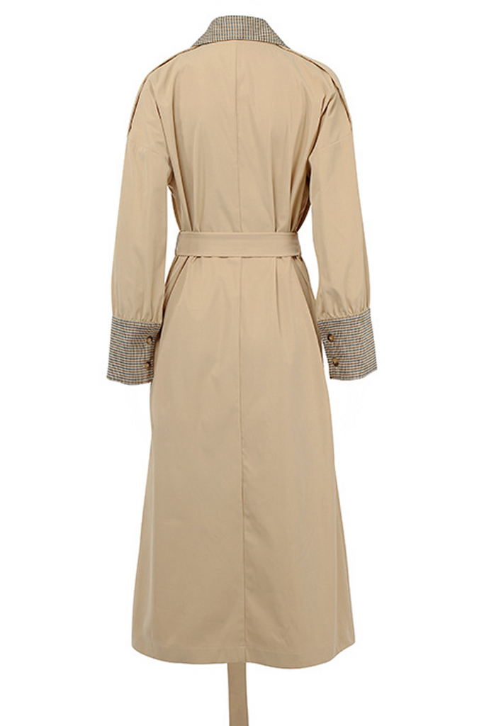 Double Breasted Trench Coat(With Belt)
