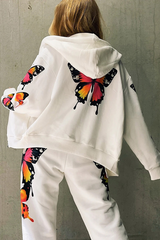 Butterfly Print Coat & Pants