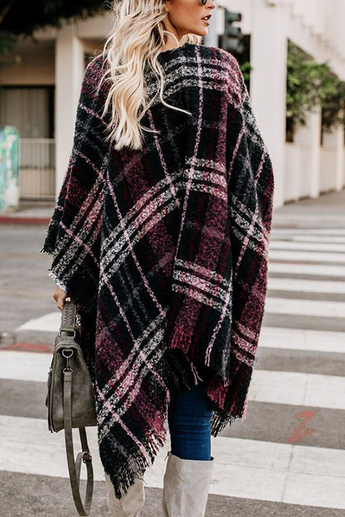 Contracted Style Plaid Cardigan