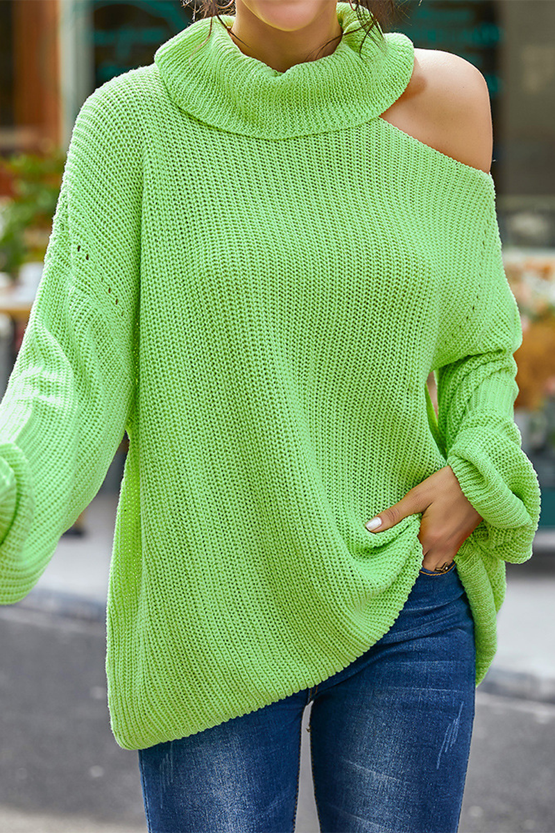Turtleneck Cold Shoulder Sweater