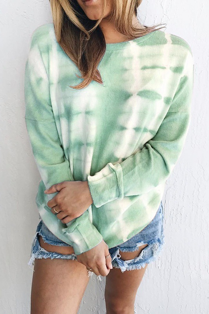 Tie Dye Gradient Long Sleeve Sweatshirt