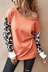 Leopard Patchwork Knitted Sweater