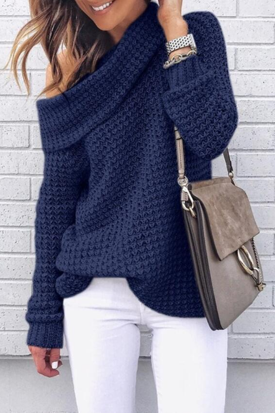 Turtleneck Casual Knit Sweater