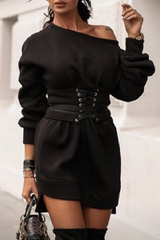 One Shoulder Strapped Dress