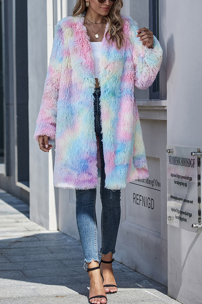 Multi Color Plush Coat