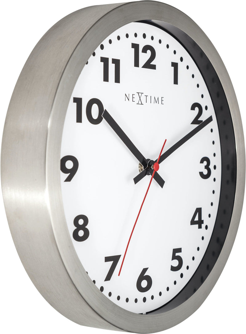 leftside 2519,Arabic,NeXtime,Stainless Steel,White