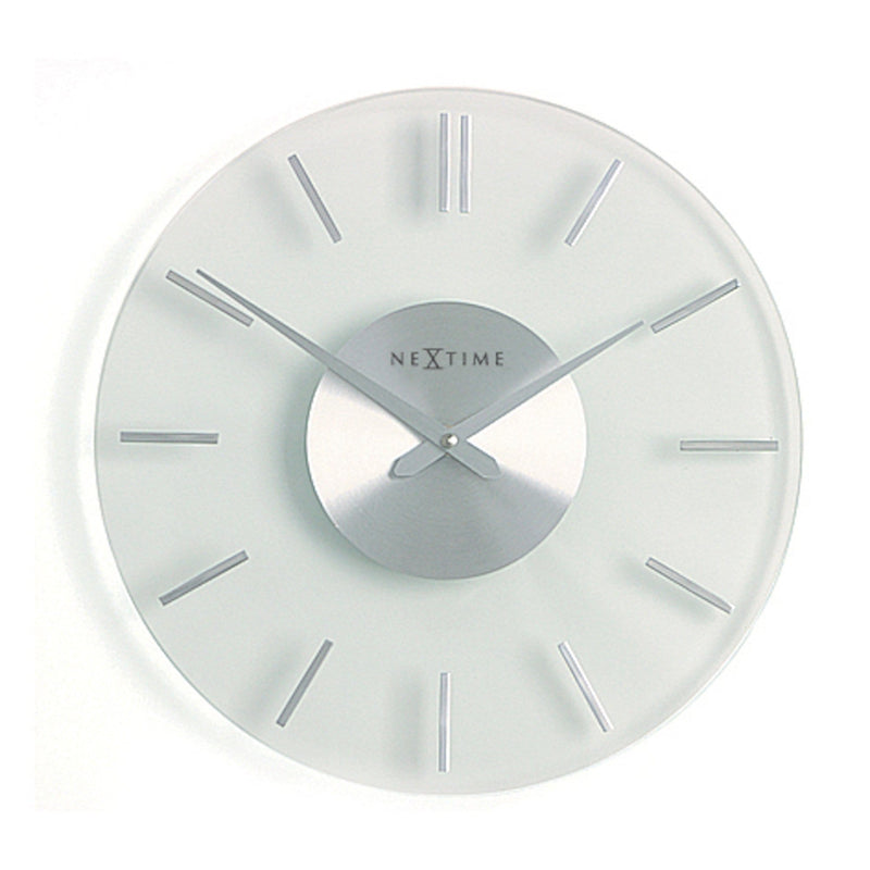 Front Picture 2631,Stripe,Wall clock,Silent,Aluminium,Silver