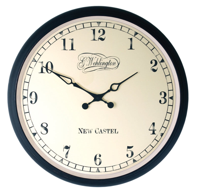 Front Picture '2790GO,Retro,Wall clock,Silent,Glass,Gold'