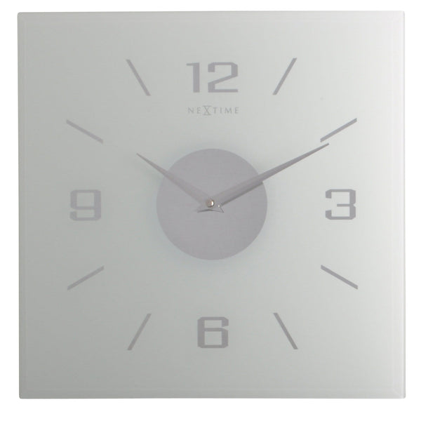 Front Picture 2667FR,Frosted Willie,Wall clock,Silent,Glass,Frosted
