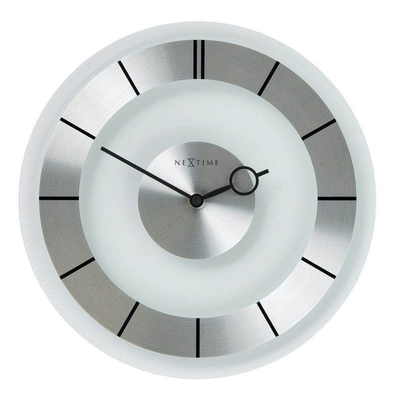 Front Picture 2790,Retro,Wall clock,Silent,Glass,Aluminum